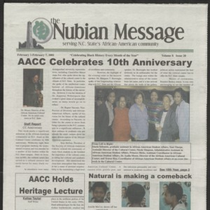 Nubian Message, February 1, 2001