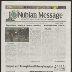Nubian Message, February 8, 2001