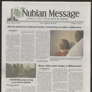 Nubian Message, March 1, 2001