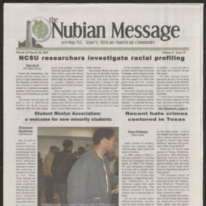 Nubian Message, March 22, 2001