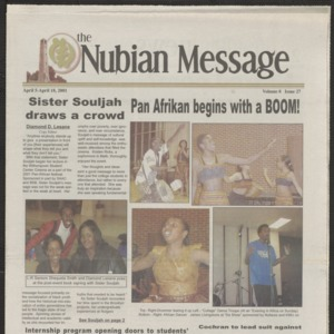 Nubian Message, April 5, 2001