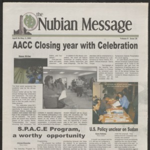 Nubian Message, April 26, 2001