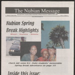 Nubian Message, March 21, 2002