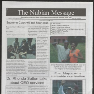 Nubian Message, April 18, 2002