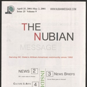 Nubian Message, April 25, 2002