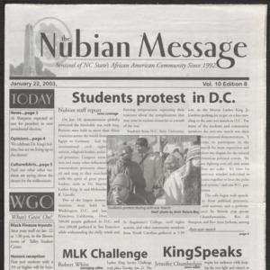 Nubian Message, January 22, 2003