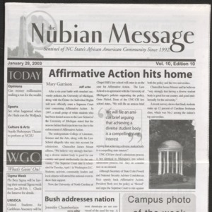Nubian Message, January 28, 2003