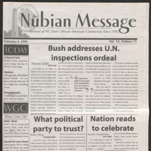 Nubian Message, February 4, 2003