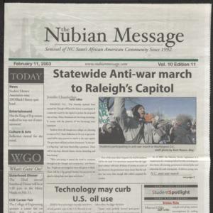 Nubian Message, February 11, 2003