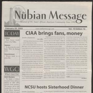 Nubian Message, February 25, 2003