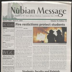 Nubian Message, April 8, 2003