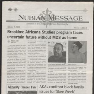 Nubian Message, October 2, 2003