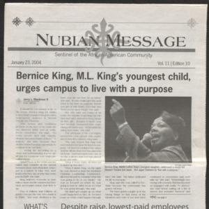 Nubian Message, January 23, 2004
