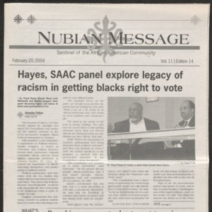 Nubian Message, February 20, 2004