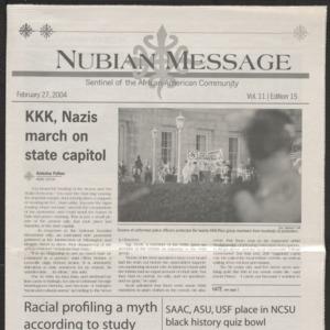 Nubian Message, February 27, 2004