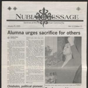 Nubian Message, January 25, 2005