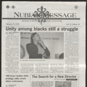 Nubian Message, February 15, 2005