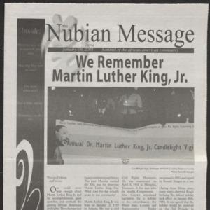 Nubian Message, January 18, 2006