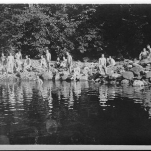 Biltmore Forestry School at the Swimming Pool, 1911