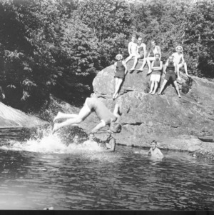 Biltmore Forestry School students at swimming pool
