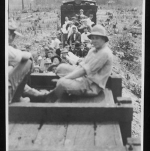 Biltmore Forestry School students riding train