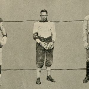 Averette Floyd with Football Players, 1922