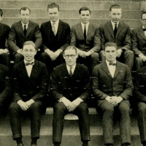 Percy Beatty with Student Council, 1924