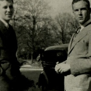 Marshall Gardner with Walter Greenwood, 1935