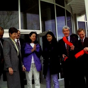 Jenny Chang at Student Health Center Ribbon Cutting, 1999