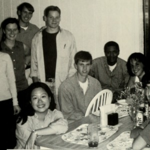 Jenny Chang with Student Government members, 1999