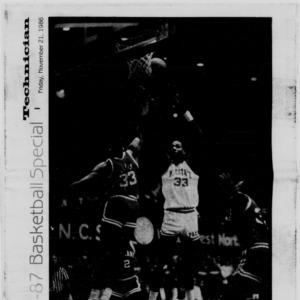 Technician, 1986-1987 Basketball Special, November 21, 1986