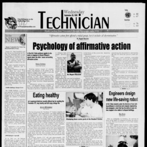 Technician, September 29, 1999