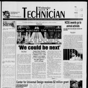 Technician, October 27, 1999