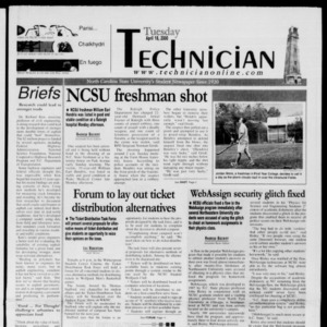 Technician, April 18, 2000