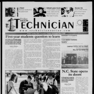 Technician, October 20, 2000
