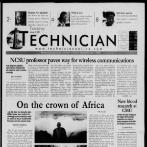 Technician, January 23, 2001