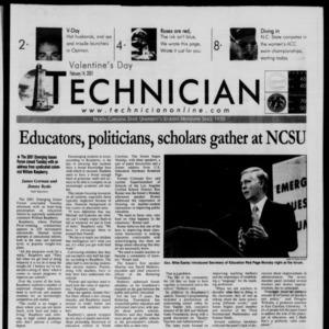 Technician, February 14, 2001