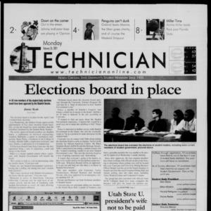 Technician, February 26, 2001