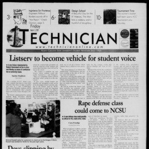 Technician, March 2, 2001