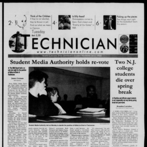 Technician, March 20, 2001