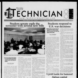 Technician, December 3, 2001