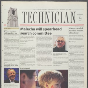 Technician, January 14, 2003