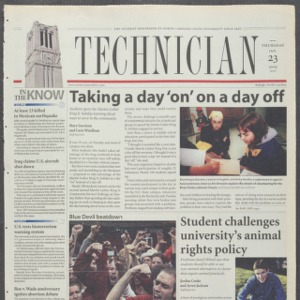 Technician, January 23, 2003