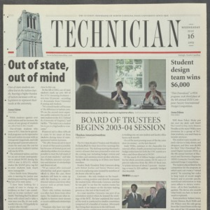 Technician, July 16, 2003