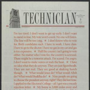 Technician, November 2, 2004