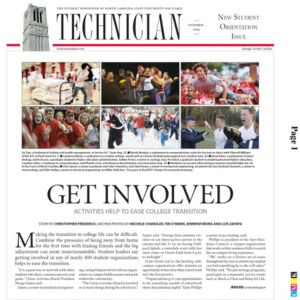 Technician, New Student Orientation Issue, Summer 2009