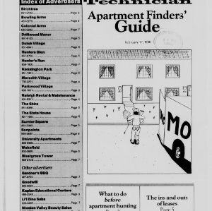 Technician, Apartment Finders' Guide, February 19, 1988