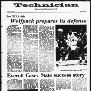 Technician, Basketball Supplement, December 2, 1974