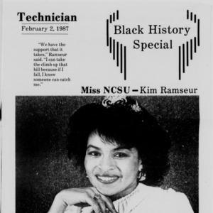 Technician, Black History Special, February 2, 1987