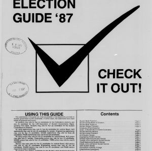 Technician, Election Guide, 1987